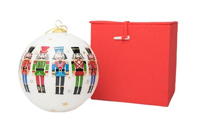 Nutcracker Globe Ornament